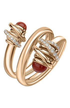 Женские кольцо DE GRISOGONO розового золота цвета, арт. 54181/38 | Фото 1