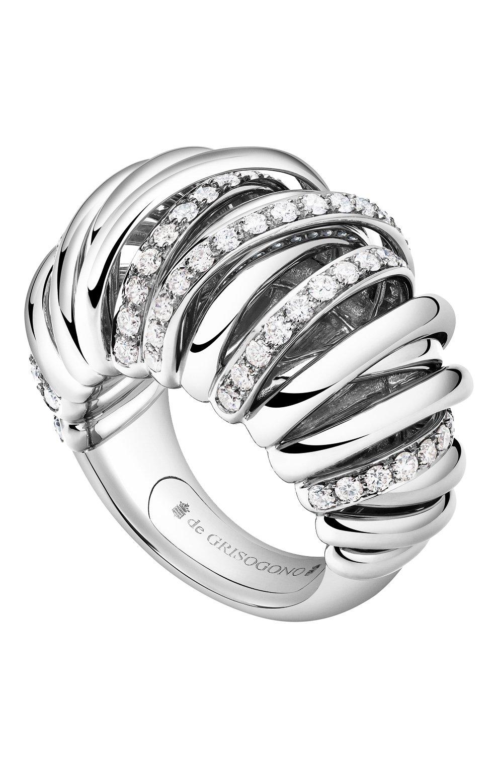 Женские кольцо DE GRISOGONO белого золота цвета, арт. 54251/01   Фото 1
