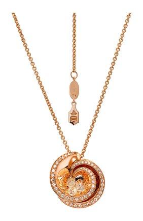 Женские кулон DE GRISOGONO розового золота цвета, арт. 91251/12 | Фото 1