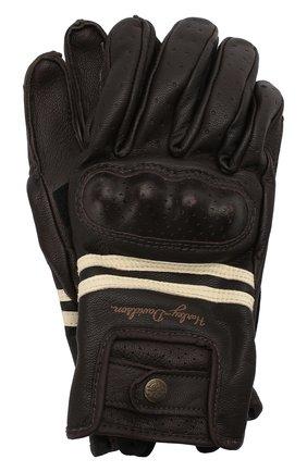 Женские кожаные перчатки genuine motorclothes HARLEY-DAVIDSON черного цвета, арт. 98275-19EW | Фото 1