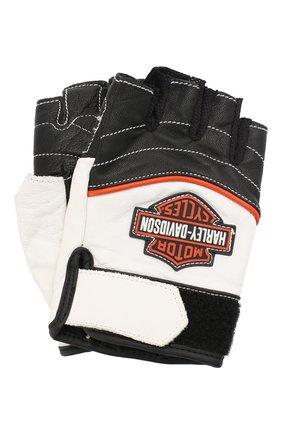 Женские кожаные перчатки genuine motorclothes HARLEY-DAVIDSON черно-белого цвета, арт. 98167-18VW | Фото 1