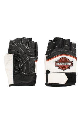 Женские кожаные перчатки genuine motorclothes HARLEY-DAVIDSON черно-белого цвета, арт. 98167-18VW | Фото 2
