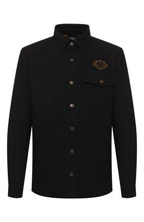 Мужская джинсовая куртка genuine motorclothes HARLEY-DAVIDSON черного цвета, арт. 96305-20VM | Фото 1