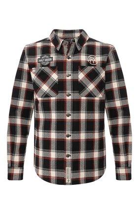 Мужская хлопковая рубашка garage HARLEY-DAVIDSON разноцветного цвета, арт. 96106-20VM | Фото 1