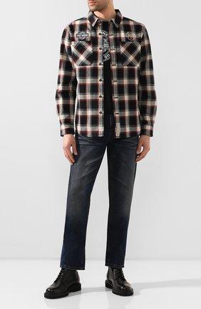 Мужская хлопковая рубашка garage HARLEY-DAVIDSON разноцветного цвета, арт. 96106-20VM | Фото 2