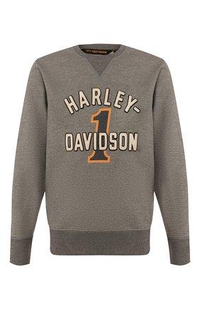 Мужской хлопковый свитшот 1903 HARLEY-DAVIDSON серого цвета, арт. 96055-20VM   Фото 1