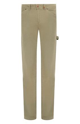 Мужские хлопковые брюки black label HARLEY-DAVIDSON хаки цвета, арт. 96524-17VM | Фото 1 (Материал внешний: Хлопок; Длина (брюки, джинсы): Стандартные; Случай: Повседневный; Стили: Кэжуэл)