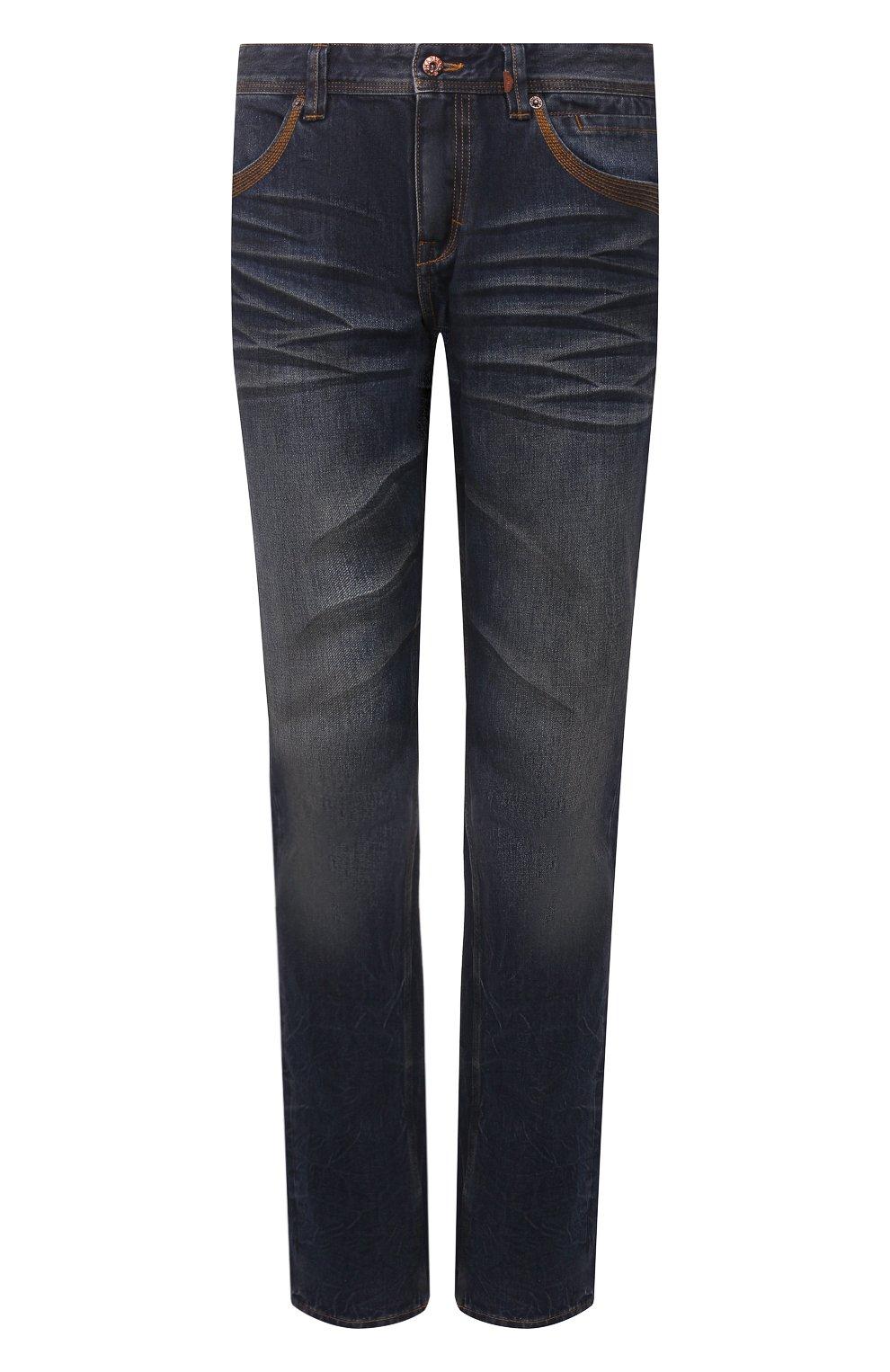 Мужские джинсы genuine motorclothes HARLEY-DAVIDSON синего цвета, арт. 96523-17VM | Фото 1 (Силуэт М (брюки): Прямые; Длина (брюки, джинсы): Стандартные; Материал внешний: Хлопок)