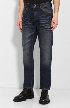 Мужские джинсы genuine motorclothes HARLEY-DAVIDSON синего цвета, арт. 96523-17VM | Фото 3 (Силуэт М (брюки): Прямые; Длина (брюки, джинсы): Стандартные; Материал внешний: Хлопок)