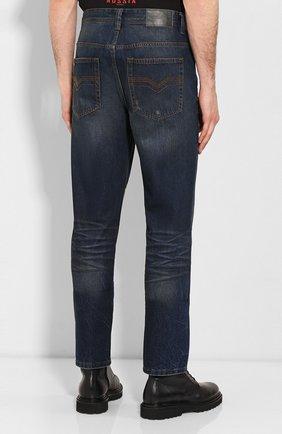 Мужские джинсы genuine motorclothes HARLEY-DAVIDSON синего цвета, арт. 96523-17VM | Фото 4 (Силуэт М (брюки): Прямые; Длина (брюки, джинсы): Стандартные; Материал внешний: Хлопок)