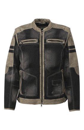 Мужская комбинированная куртка genuine motorclothes HARLEY-DAVIDSON черного цвета, арт. 97142-17VM | Фото 1