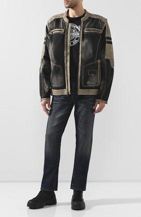 Мужская комбинированная куртка genuine motorclothes HARLEY-DAVIDSON черного цвета, арт. 97142-17VM | Фото 2