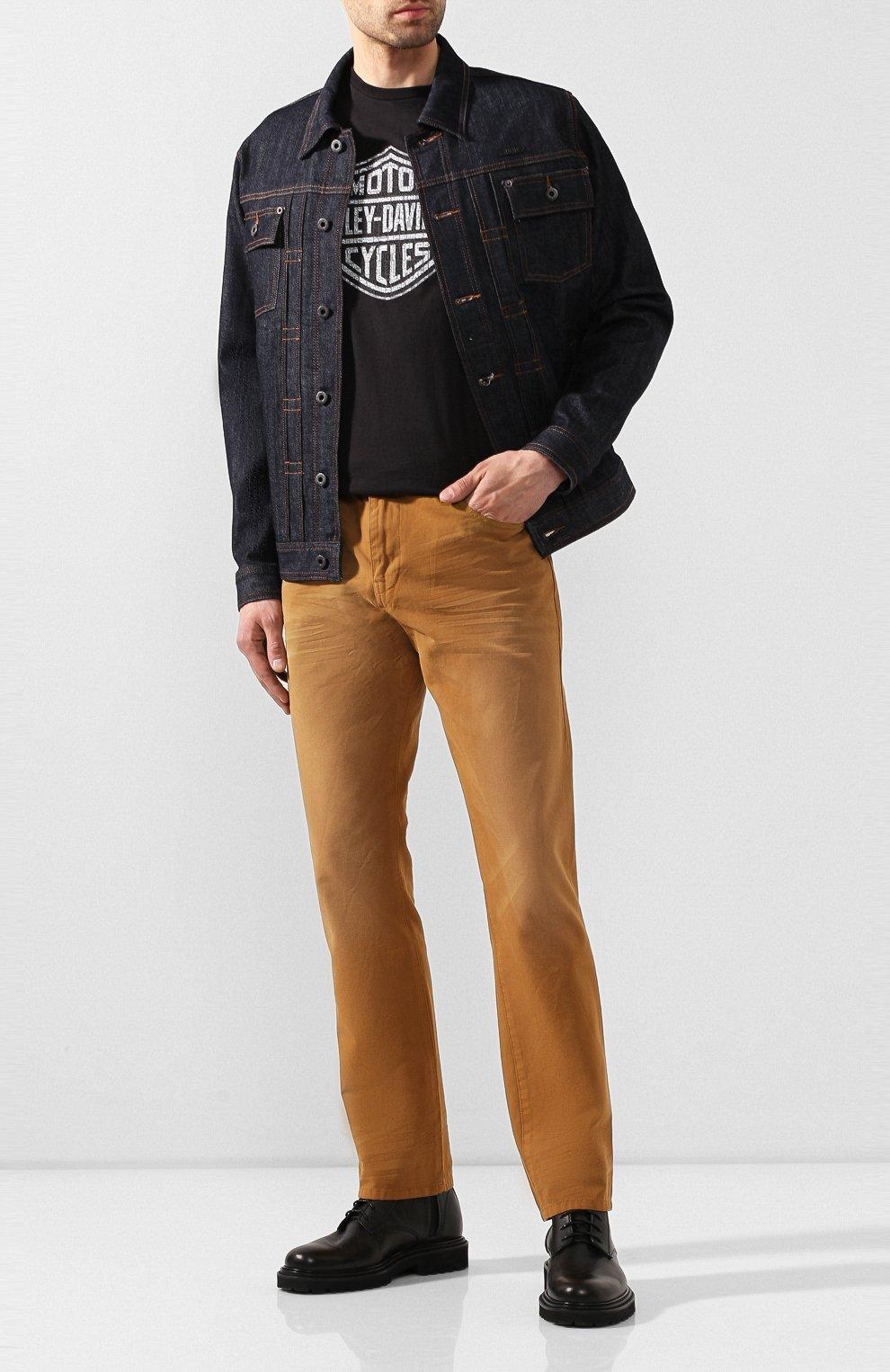 Мужские джинсы genuine motorclothes HARLEY-DAVIDSON светло-коричневого цвета, арт. 96467-16VM | Фото 2