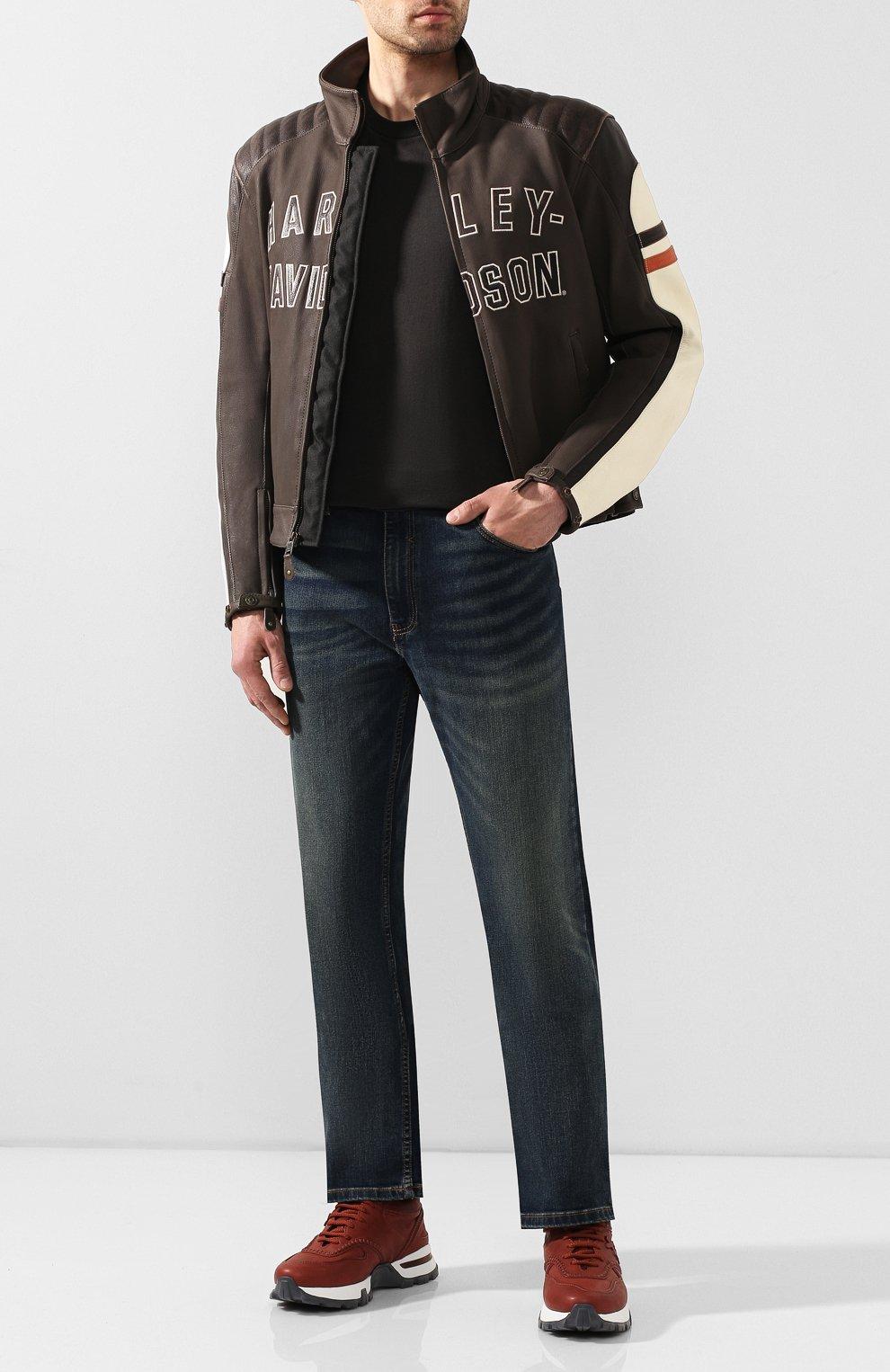 Мужские джинсы genuine motorclothes HARLEY-DAVIDSON синего цвета, арт. 99068-20VM | Фото 2