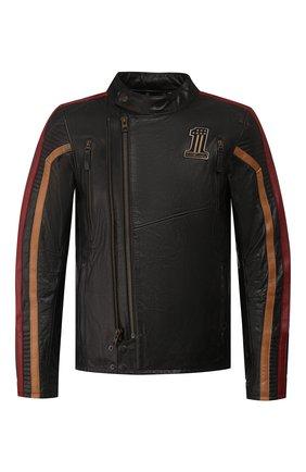 Мужская кожаная куртка garage HARLEY-DAVIDSON черного цвета, арт. 98001-20VM | Фото 1