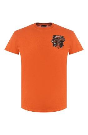 Мужская хлопковая футболка exclusive for moscow HARLEY-DAVIDSON оранжевого цвета, арт. R003450 | Фото 1