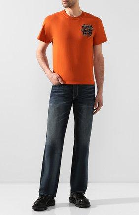 Мужская хлопковая футболка exclusive for moscow HARLEY-DAVIDSON оранжевого цвета, арт. R003450 | Фото 2