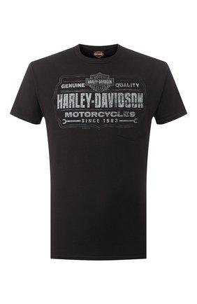 Мужская хлопковая футболка exclusive for moscow HARLEY-DAVIDSON черного цвета, арт. R003472 | Фото 1