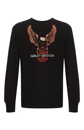 Мужская хлопковый лонгслив genuine motorclothes HARLEY-DAVIDSON черного цвета, арт. 99098-20VM   Фото 1
