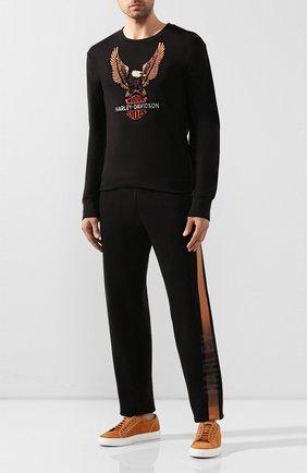 Мужская хлопковый лонгслив genuine motorclothes HARLEY-DAVIDSON черного цвета, арт. 99098-20VM   Фото 2