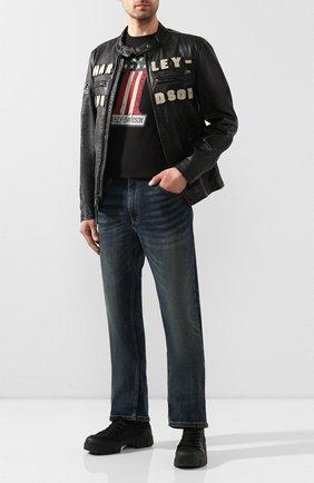 Мужская хлопковая футболка exclusive for moscow HARLEY-DAVIDSON черного цвета, арт. R003084   Фото 2