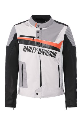Мужская куртка genuine motorclothes HARLEY-DAVIDSON серого цвета, арт. 98155-20EM | Фото 1