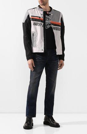Мужская куртка genuine motorclothes HARLEY-DAVIDSON серого цвета, арт. 98155-20EM | Фото 2