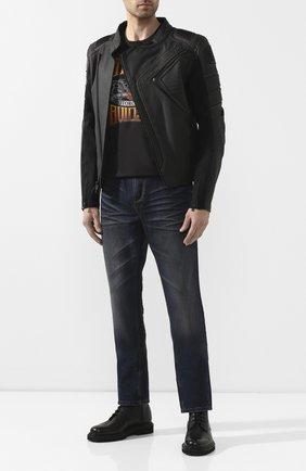 Мужская хлопковая футболка exclusive for moscow HARLEY-DAVIDSON черного цвета, арт. R003443 | Фото 2