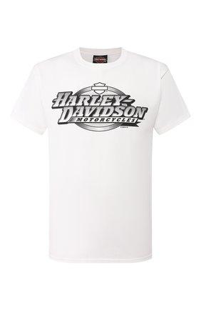 Мужская хлопковая футболка exclusive for moscow HARLEY-DAVIDSON белого цвета, арт. R003468 | Фото 1