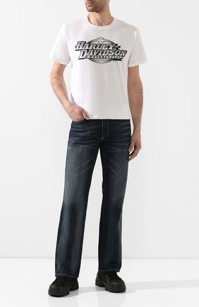 Мужская хлопковая футболка exclusive for moscow HARLEY-DAVIDSON белого цвета, арт. R003468 | Фото 2