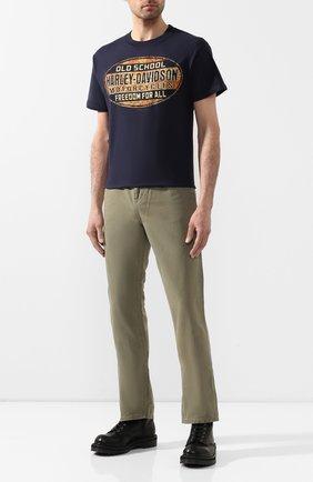 Мужская хлопковая футболка exclusive for moscow HARLEY-DAVIDSON синего цвета, арт. R003088 | Фото 2