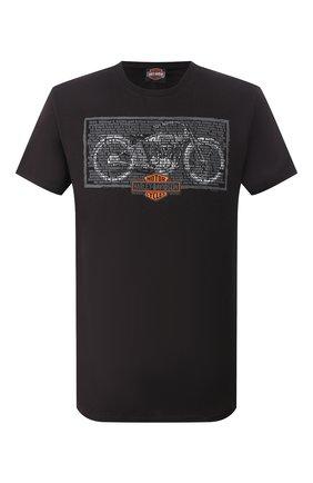 Мужская хлопковая футболка exclusive for moscow HARLEY-DAVIDSON черного цвета, арт. R003418 | Фото 1