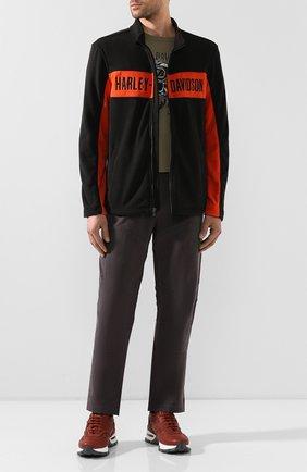 Мужская хлопковая футболка exclusive for moscow HARLEY-DAVIDSON хаки цвета, арт. R003460 | Фото 2