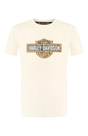 Мужская хлопковая футболка 1903 HARLEY-DAVIDSON кремвого цвета, арт. 99001-19VM | Фото 1