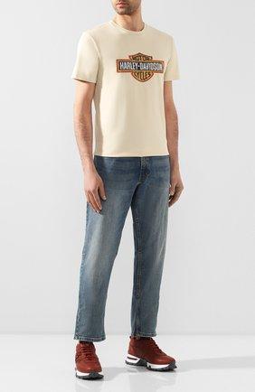 Мужская хлопковая футболка 1903 HARLEY-DAVIDSON кремвого цвета, арт. 99001-19VM | Фото 2