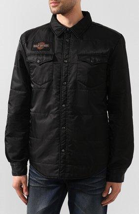 Мужская куртка 1903 HARLEY-DAVIDSON черного цвета, арт. 97494-19VM   Фото 3 (Кросс-КТ: Куртка, Ветровка; Рукава: Длинные; Материал внешний: Синтетический материал; Мужское Кросс-КТ: Куртка-верхняя одежда, Верхняя одежда; Длина (верхняя одежда): Короткие)