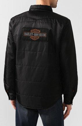 Мужская куртка 1903 HARLEY-DAVIDSON черного цвета, арт. 97494-19VM   Фото 4 (Кросс-КТ: Куртка, Ветровка; Рукава: Длинные; Материал внешний: Синтетический материал; Мужское Кросс-КТ: Куртка-верхняя одежда, Верхняя одежда; Длина (верхняя одежда): Короткие)