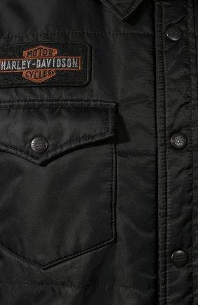 Мужская куртка 1903 HARLEY-DAVIDSON черного цвета, арт. 97494-19VM   Фото 5 (Кросс-КТ: Куртка, Ветровка; Рукава: Длинные; Материал внешний: Синтетический материал; Мужское Кросс-КТ: Куртка-верхняя одежда, Верхняя одежда; Длина (верхняя одежда): Короткие)