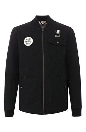 Мужская хлопковая куртка garage HARLEY-DAVIDSON черного цвета, арт. 97472-19VM | Фото 1