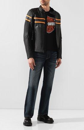 Мужская хлопковая футболка exclusive for moscow HARLEY-DAVIDSON черного цвета, арт. R003421 | Фото 2