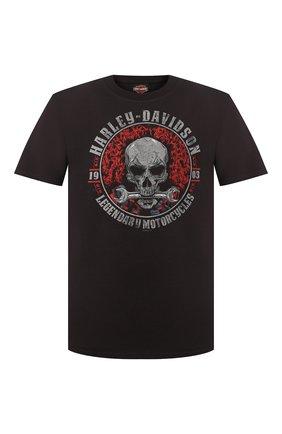 Мужская хлопковая футболка exclusive for moscow HARLEY-DAVIDSON черного цвета, арт. R003447   Фото 1