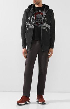 Мужская хлопковая футболка exclusive for moscow HARLEY-DAVIDSON черного цвета, арт. R003447   Фото 2
