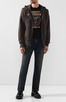 Мужская хлопковая футболка exclusive for moscow HARLEY-DAVIDSON черного цвета, арт. R003445 | Фото 2