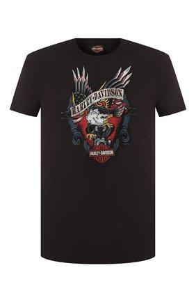 Мужская хлопковая футболка exclusive for moscow HARLEY-DAVIDSON черного цвета, арт. R003462   Фото 1