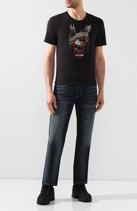 Мужская хлопковая футболка exclusive for moscow HARLEY-DAVIDSON черного цвета, арт. R003462   Фото 2