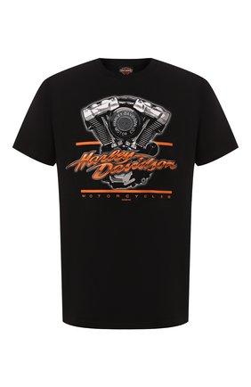 Мужская хлопковая футболка exclusive for moscow HARLEY-DAVIDSON черного цвета, арт. R003454 | Фото 1