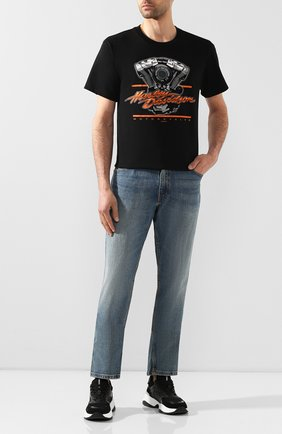 Мужская хлопковая футболка exclusive for moscow HARLEY-DAVIDSON черного цвета, арт. R003454 | Фото 2