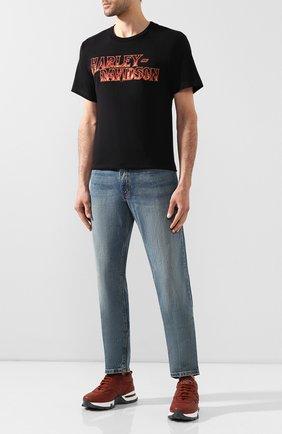 Мужская хлопковая футболка exclusive for moscow HARLEY-DAVIDSON черного цвета, арт. R003455   Фото 2
