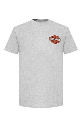 Мужская хлопковая футболка exclusive for moscow HARLEY-DAVIDSON серого цвета, арт. R003086 | Фото 1