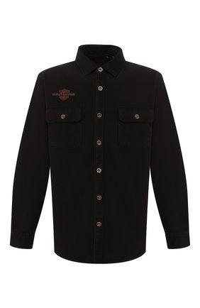 Мужская хлопковая рубашка 1903 HARLEY-DAVIDSON черного цвета, арт. 96282-20VM | Фото 1